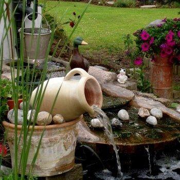 une amphore devenue fontaine Water Gardens Pinterest Pond