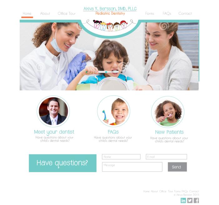 Pediatric dentist website mockup #2