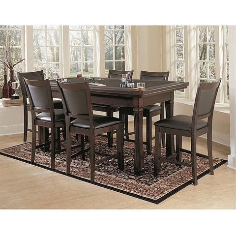 FREEDOM 3 IN 1 BURLINGTON SUEDE GAMING TABLE U0026 DINING CHAIR SET