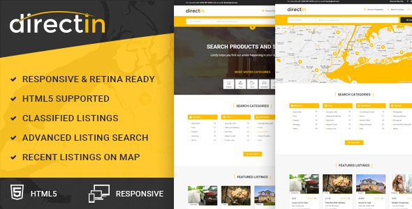 Directin classified ads listing template for directory realty directin classified ads listing template for directory realty property and yellow pages website templates pinterest user experience template and wajeb Image collections