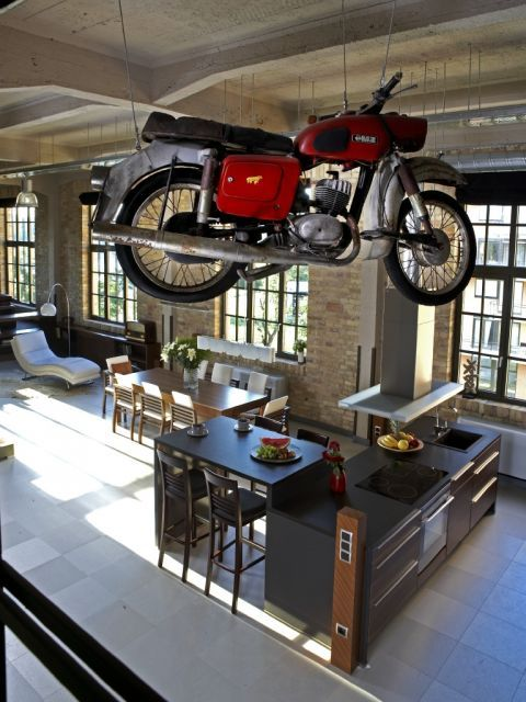 Penthouse Motorcycle Design Rock And Roll Home Decor Masculin Home Design