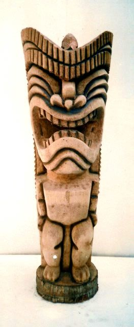 "36"" Lucky Tiki Statue"