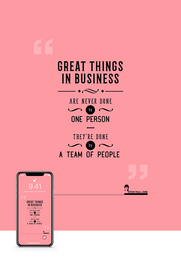 Iphone X Wallpaper Free Steve Jobs Quotes On Behance Steve Jobs Quotes Job Inspirational Quotes Quotes