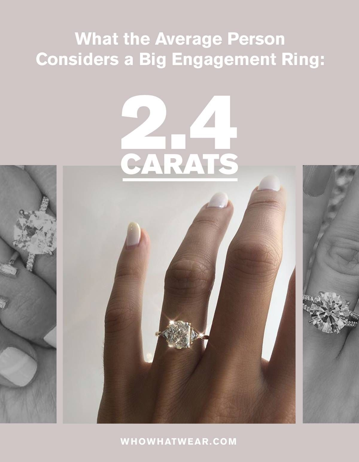 What The Average Person Considers A Big Engagement Ring In 2020 Big Engagement Rings Engagement Rings Engagement Ring Shapes