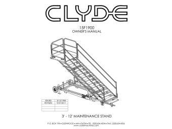 Clyde Machines 15F1900 Maintenance Platform Manual