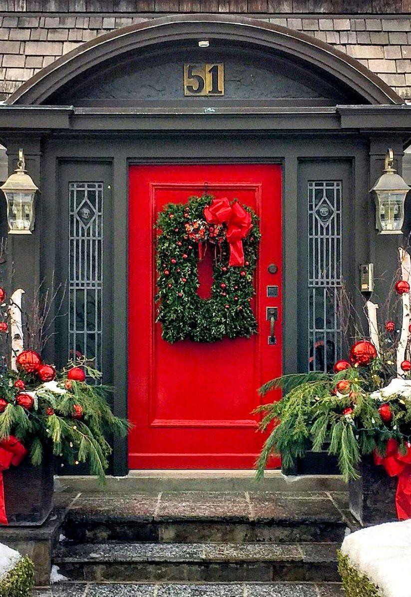 Coral Front Door Black Exterior Salem Massachusetts My Shop Pinterest Red