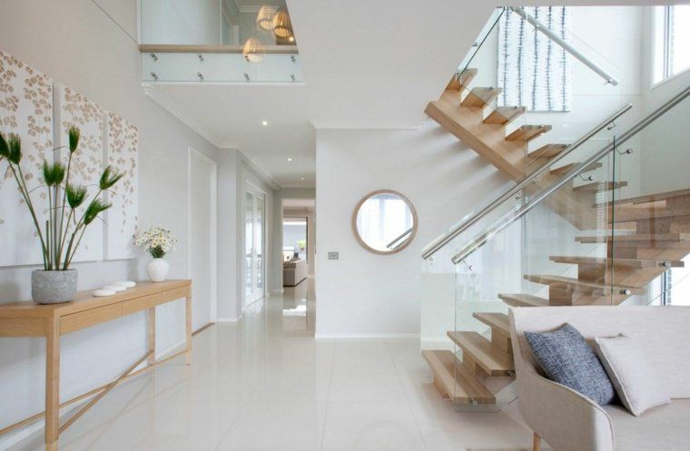 Rampe d\u0027escalier  59 suggestions de style moderne Salons - escalier interieur de villa