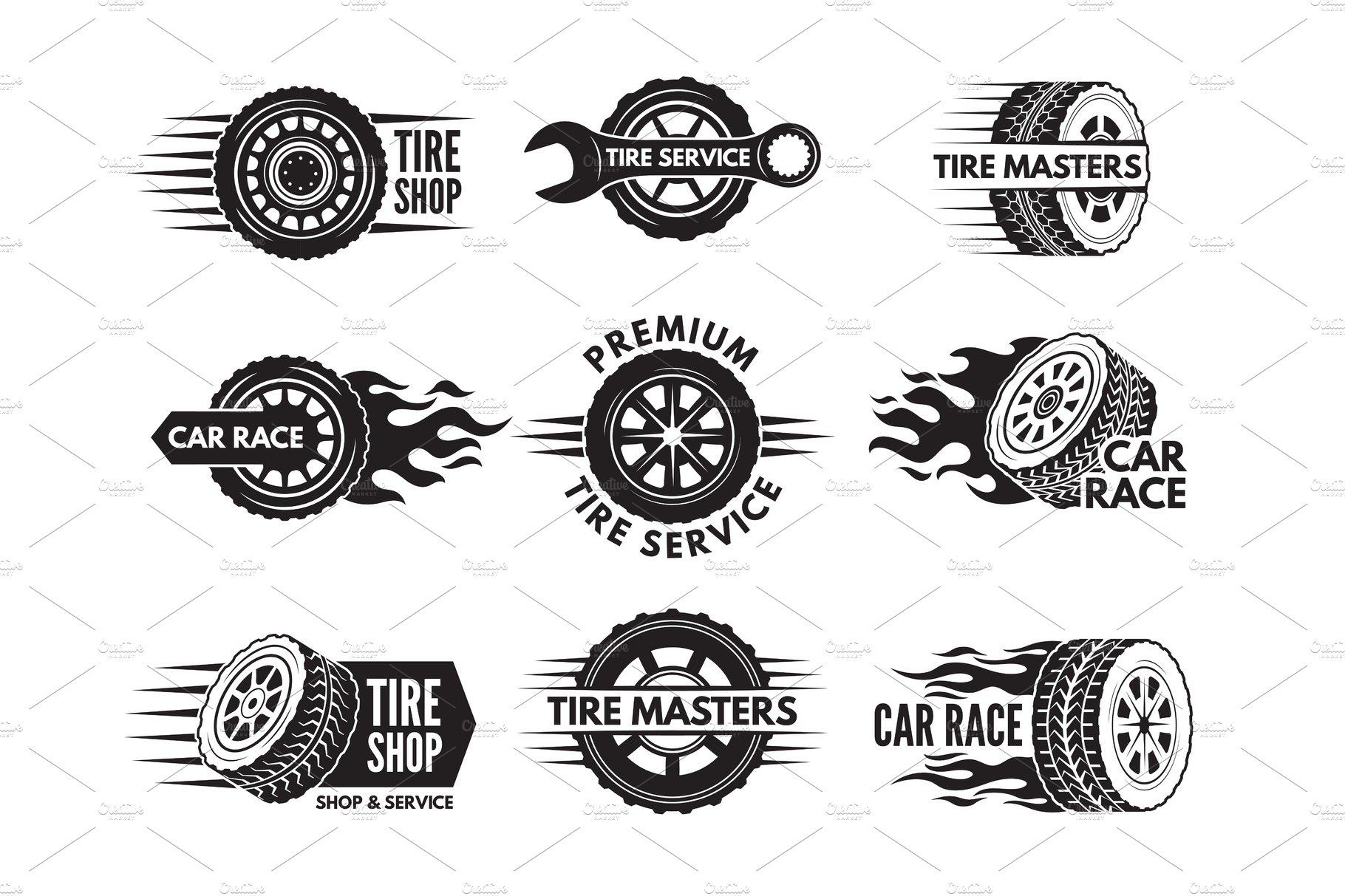 Race Logos With Pictures Of Different Cars Wheels With Images