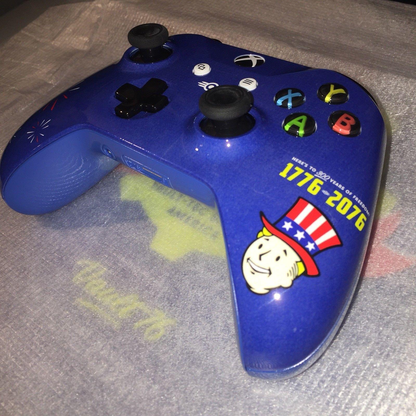 Rare Custom Fallout 76 Xbox One X Console Wireless Controller 1tb Vault Boy Xbox One Xbox Xbox Wireless Controller