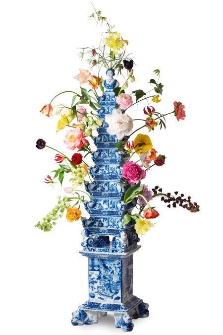 Dutch Delft Blue Tulip Vase Dutch Tulip Delft Vase Pinterest