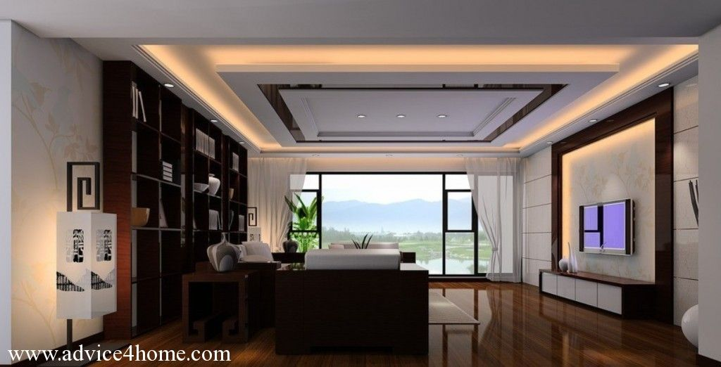 Living room design high ceiling photo 1 great room - Interior design ceiling living room ...