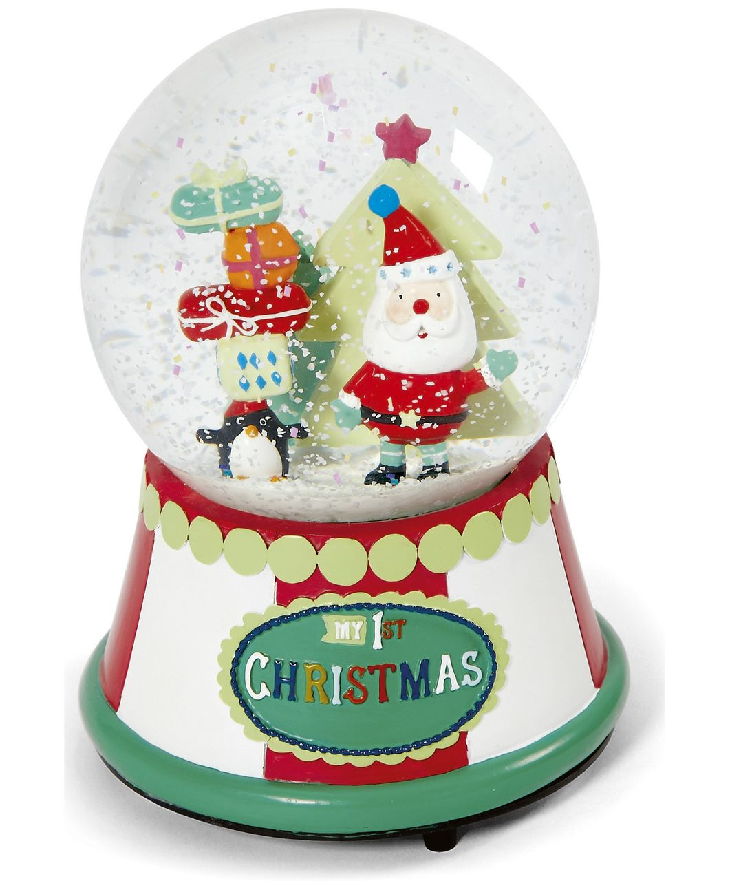 Musical Father Christmas Snow Globe - Baby's First Christmas ...