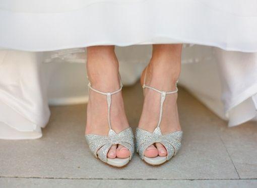 T Strap Wedding Shoes
