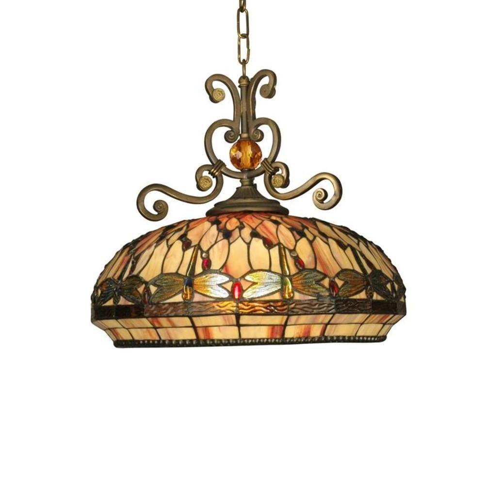 Dale Tiffany Dale Tiffany Briar Dragonfly Pendant, Antique Golden Sand -  TH10097 - $549.99