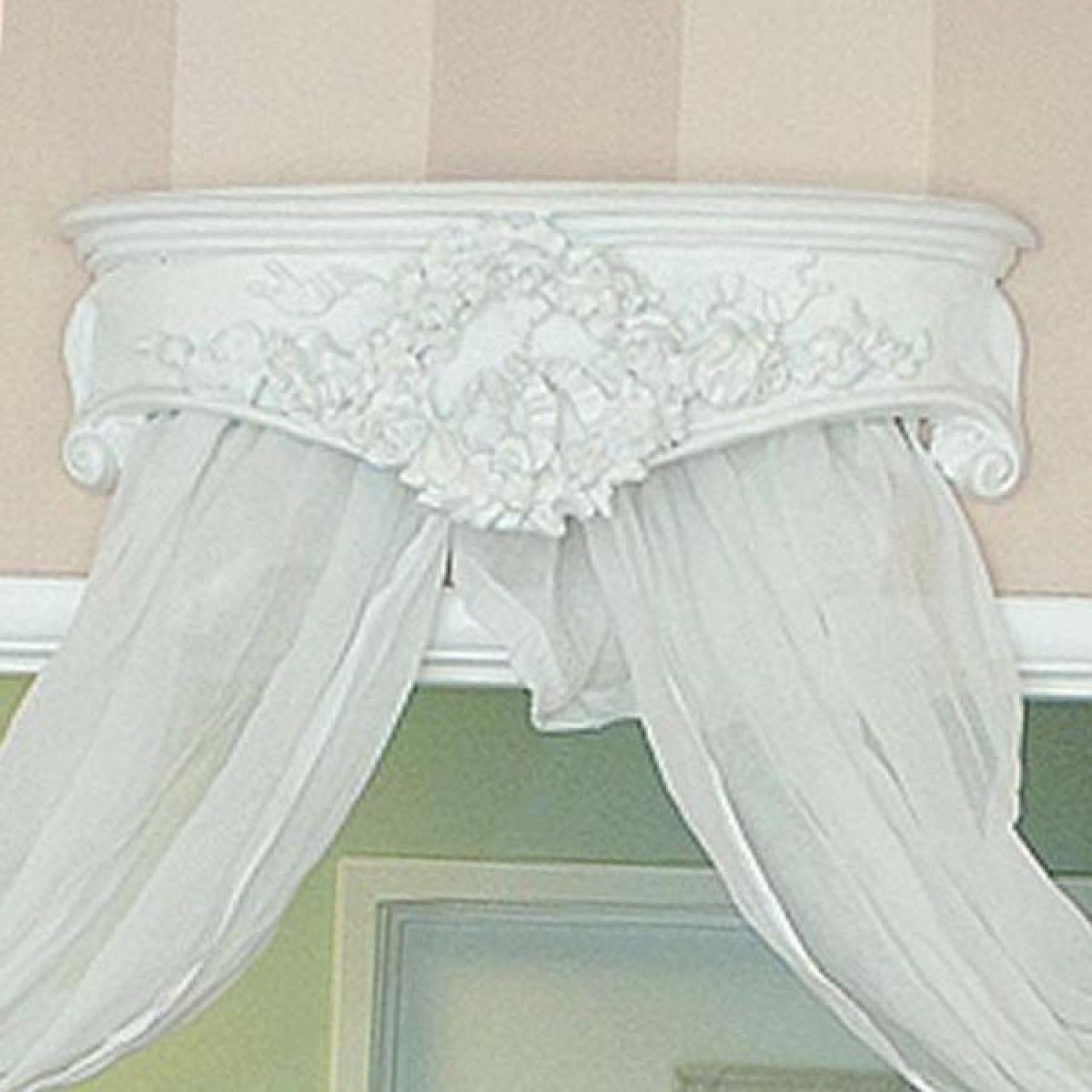 Ornate Corona Bed Crown Canopy $278.00 #thebellacottage #bedroom #shabbychic - Bed Crown Canopy, Crib Crown, Wood Cornice, French Scroll, Bedroom