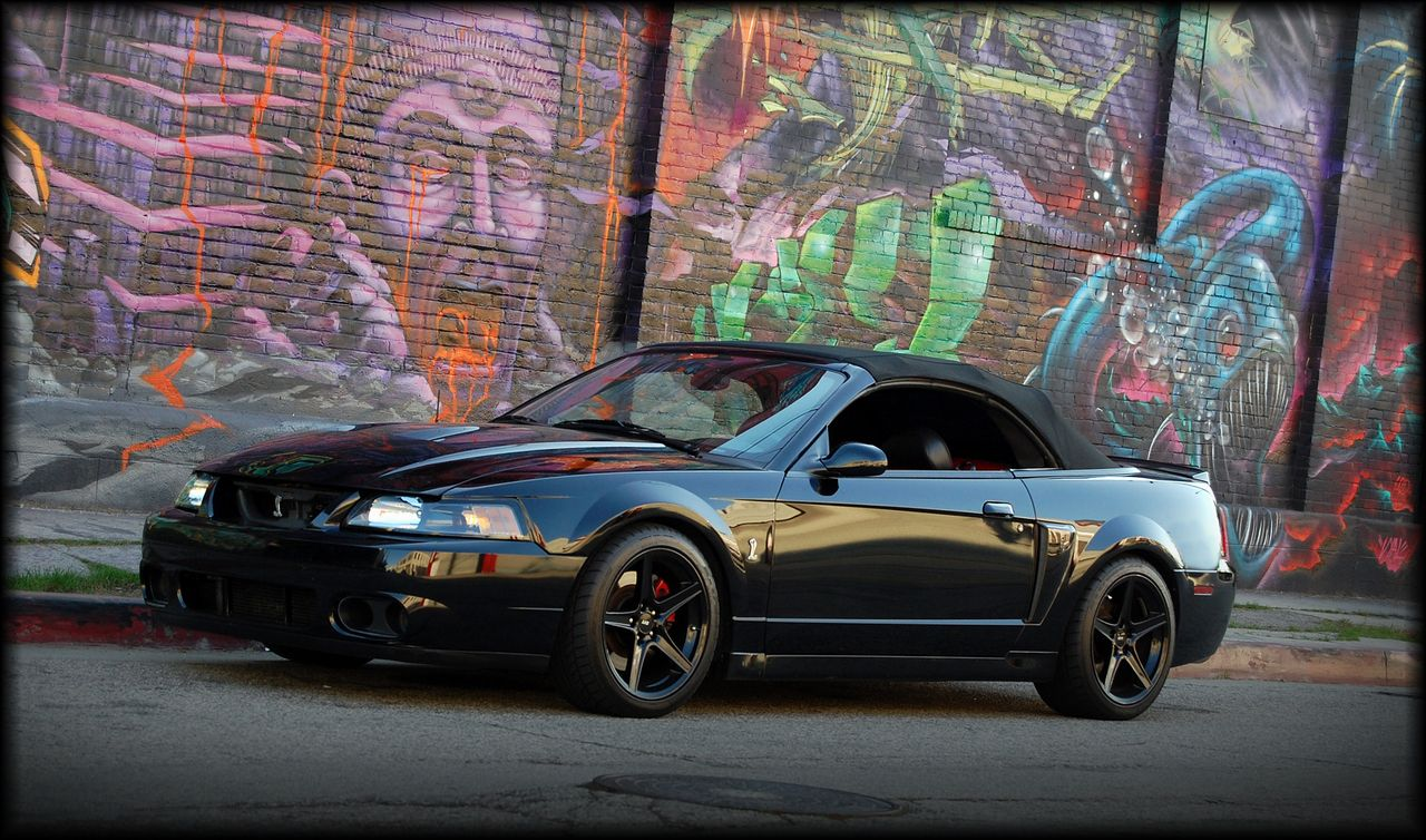 Black 03 04 Cobra Convertible W Black Saleen Wheels Mustang