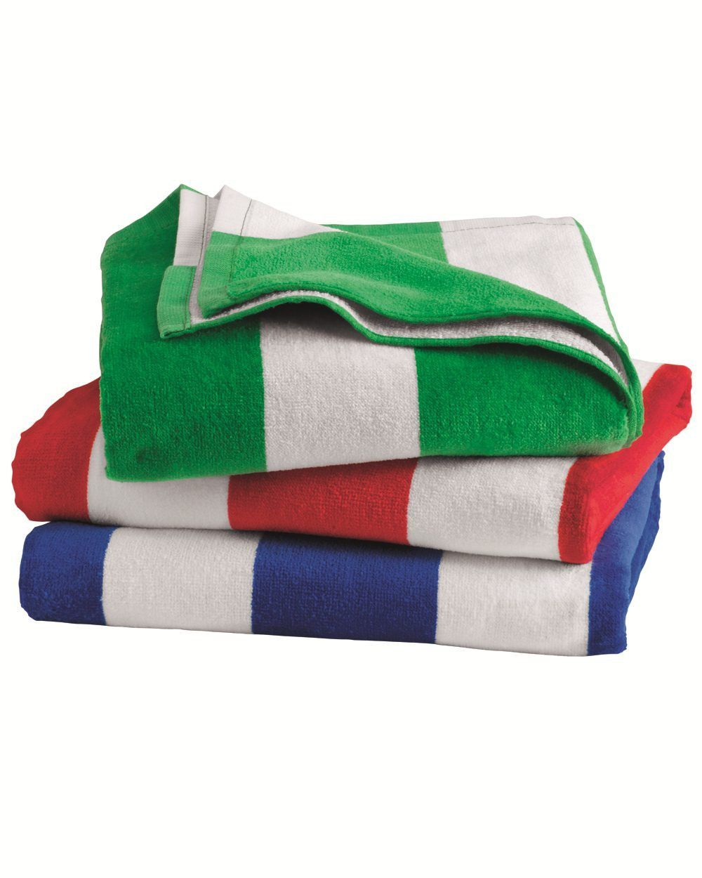 Carmel Towel Company Cabana Stripe Velour Beach Towel C3060s