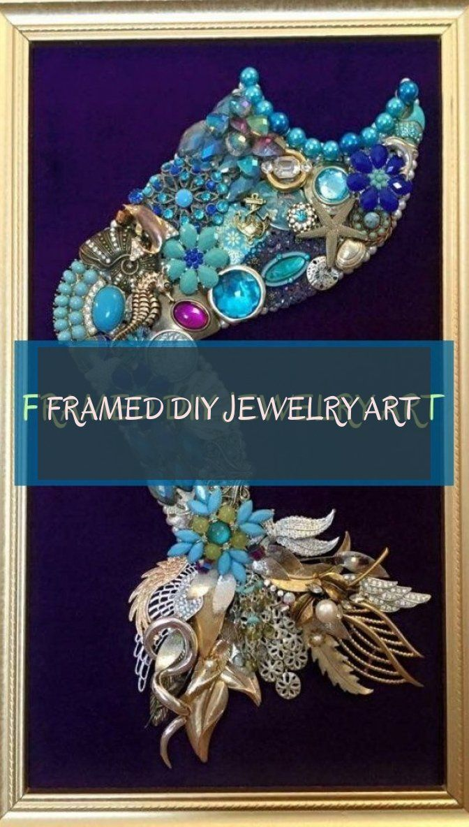 Framed diy jewelry art
