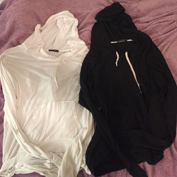 2 Layla Hoodies I've worn each probably once or twice! Super soft and light weight, a little longer in the back than in the front! Brandy Melville Tops Sweatshirts & Hoodies
