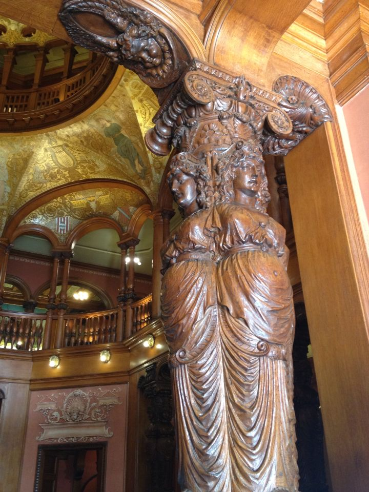 Carved Wood Column