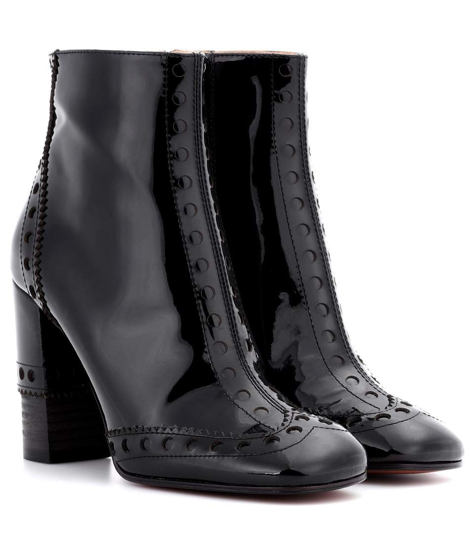6c50a95c3b5 CHLOÉ Perry patent leather ankle boots.  chloé  shoes