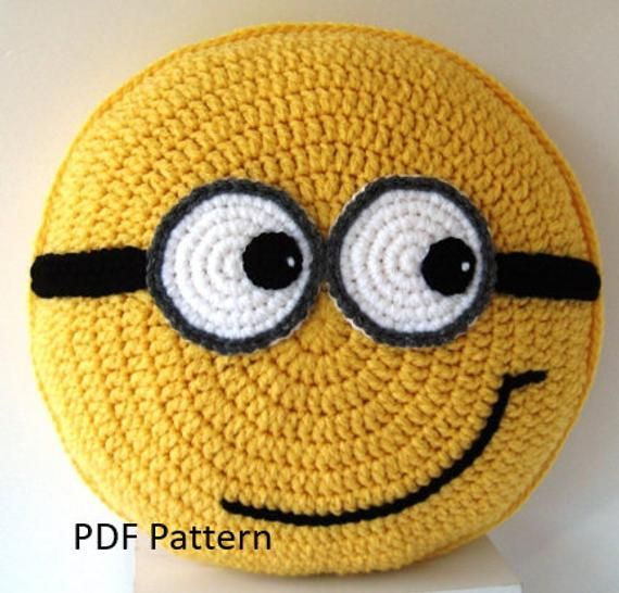 Yellow friends with goggles Pillow - Cushion CROCHET PATTERN - crochet patterns for animal pillows Birthday present Baby shower gift