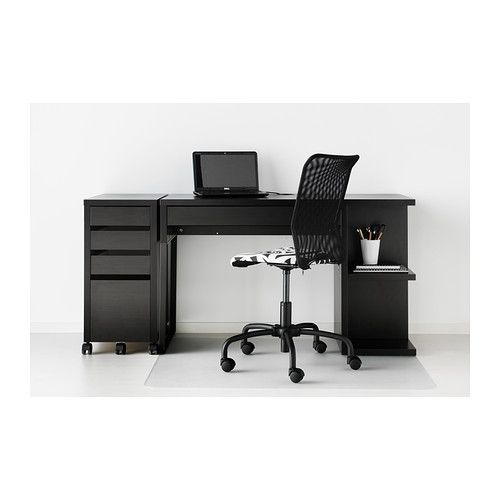 Delicieux MICKE Desk With Integrated Storage   Black Brown   IKEA U0026 MICKE Drawer Unit  | Drop/file Storage