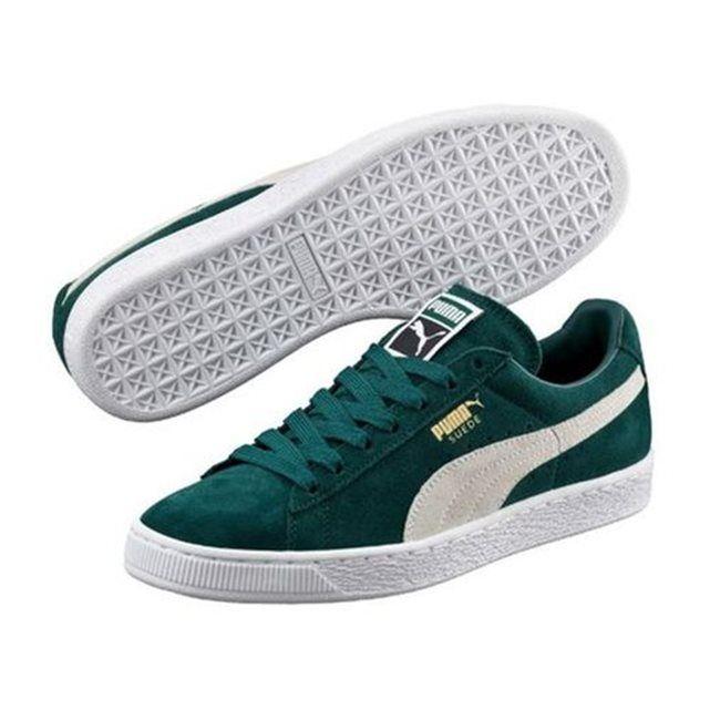 Chaussures Puma Suede Ponderosa Vert | sneakers | Puma suede