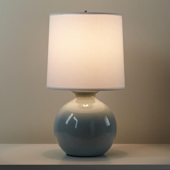 Gumball Lamp In Grey Grey Table Lamps Lamp Table Lamp