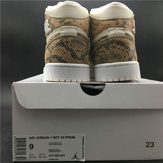 Top Air Jordan 1 Retro High snake skin AH7389-004 MK  8e4a04f5f