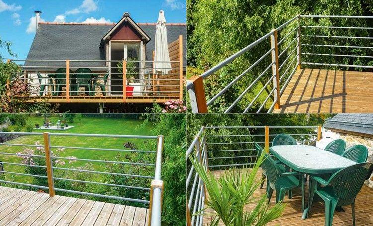Installer une terrasse en bois et métal sur pilotis à l\u0027étage