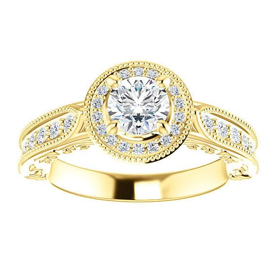 Hey, I found this really awesome Etsy listing at https://www.etsy.com/listing/267797480/18k-diamond-engagement-ring-yellow-gold