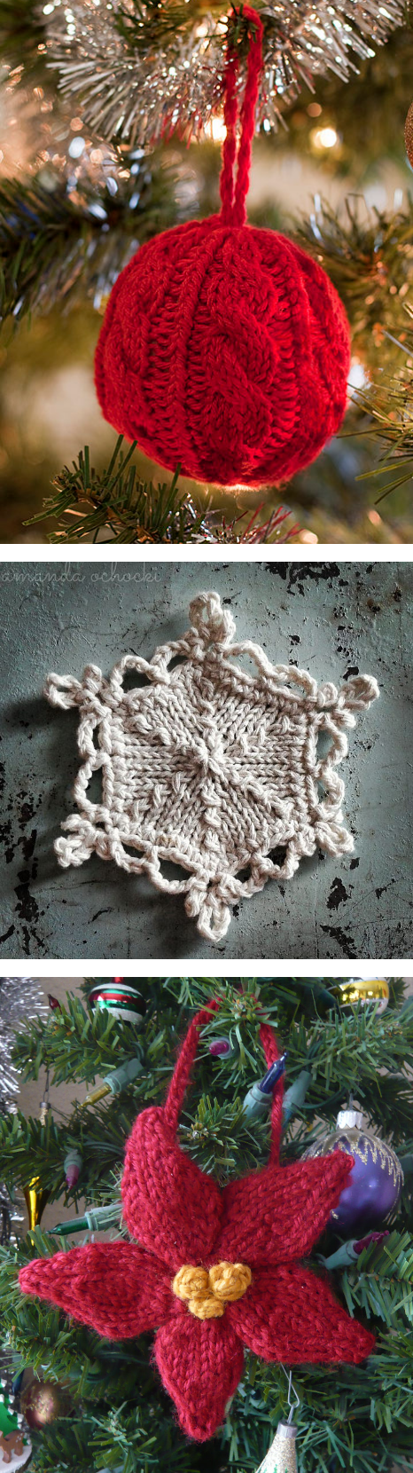 Free Knitting Patterns for Holiday Ornaments by Interweave - Cable ...