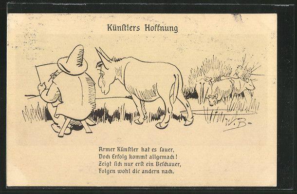 Illustrations De Wilhelm Busch Künstler Ak Wilhelm Busch