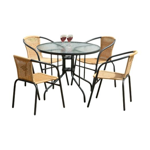 SunTime Outdoor Living Bambi 5 Piece Dining Set | AllModern | Garden ...