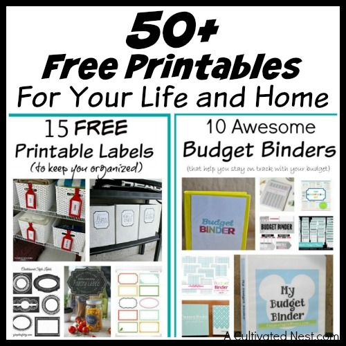 50+ Free Printables for Your Life and Home #50freeprintables