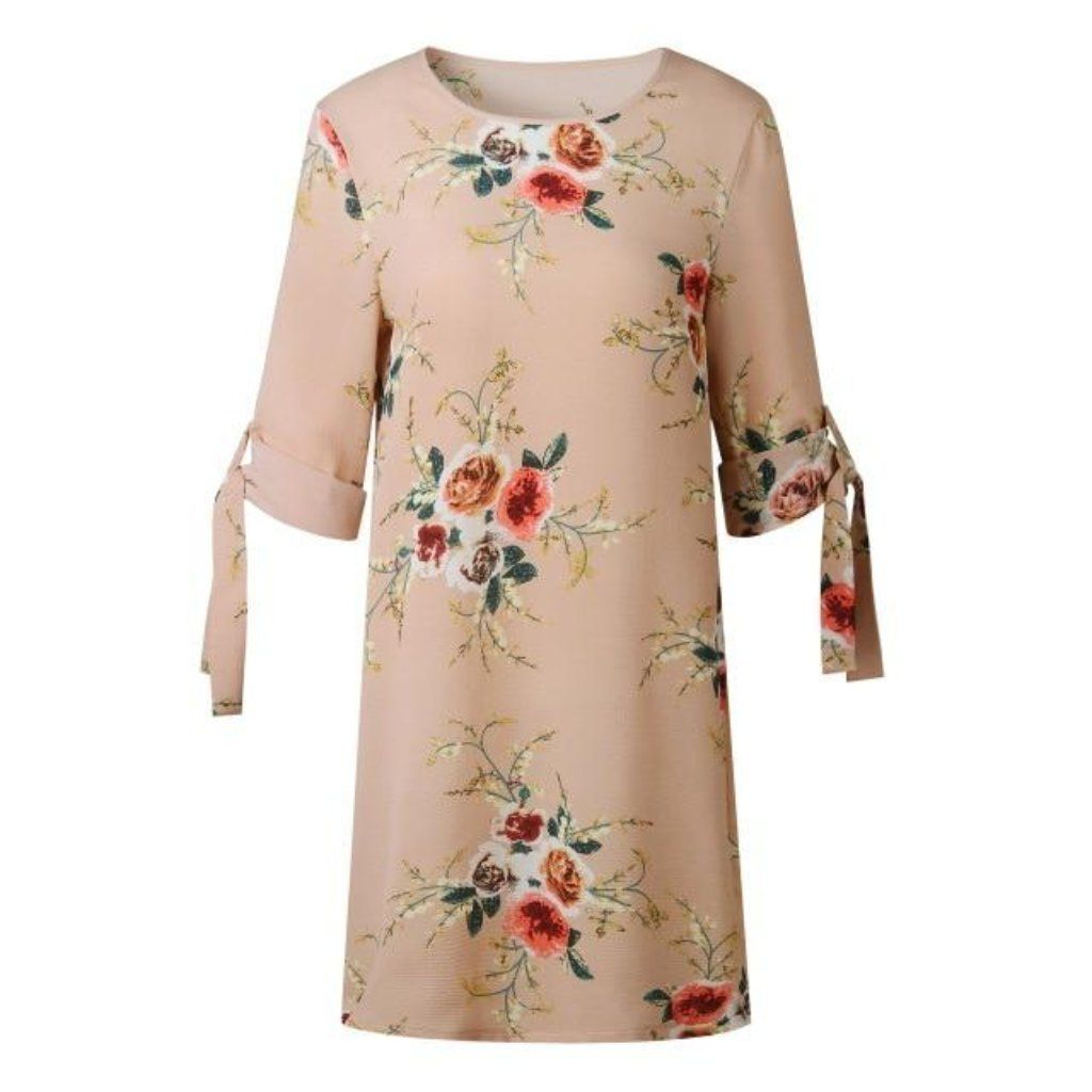 Summer Tunic Dresses Womens Floral Dress Summer Tunic Dress Mini Dress Party [ 1024 x 1024 Pixel ]