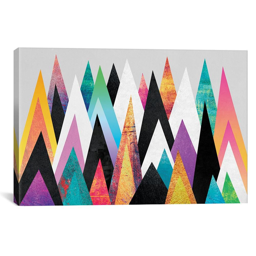 icanvas colorful peaks by elisabeth fredriksson canvas on icanvas wall art id=21355