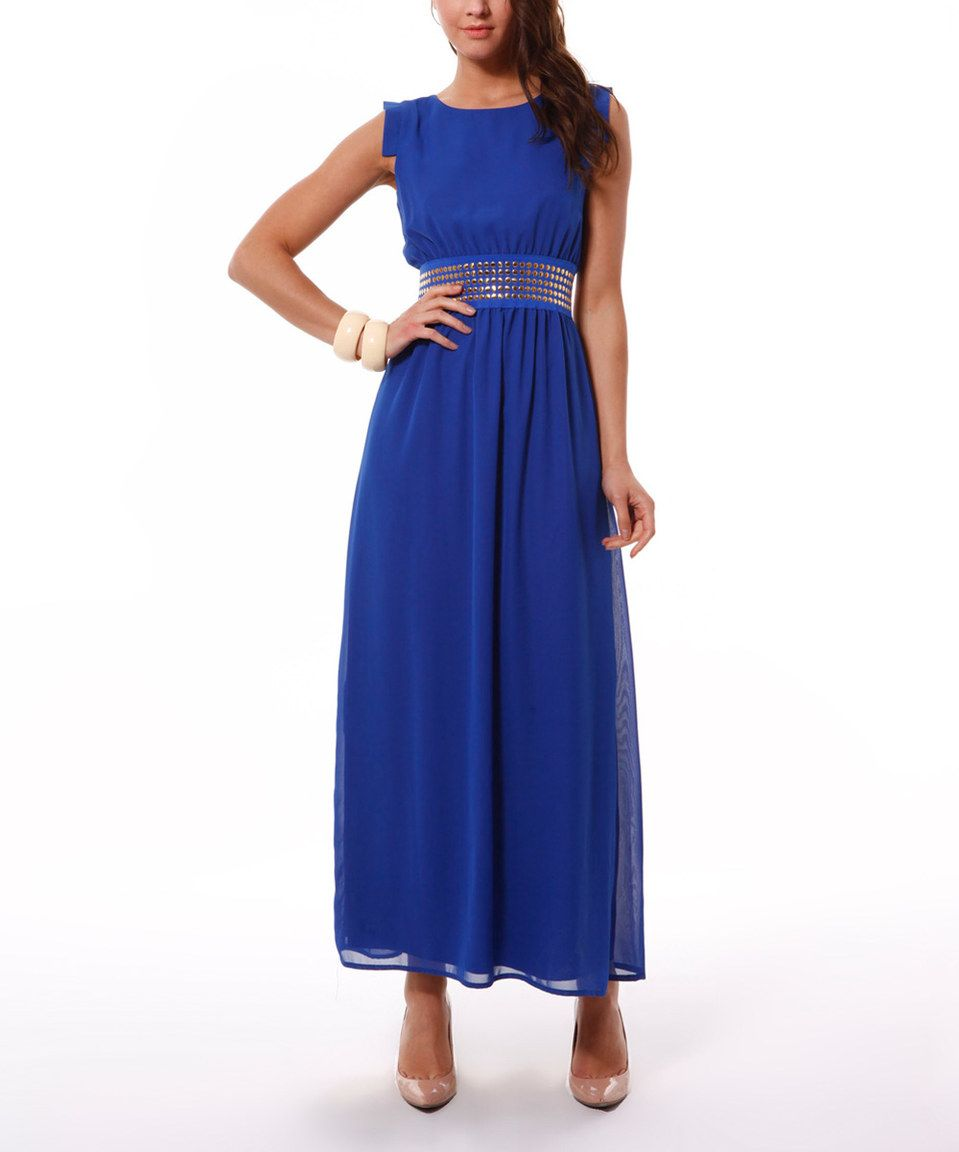 Look At This Zulilyfind Saxon Blue Studded Waist Cutout Maxi Dress By Scarlett Zulilyfinds Maxi Dress Cutout Maxi Dress Dresses [ 1152 x 959 Pixel ]