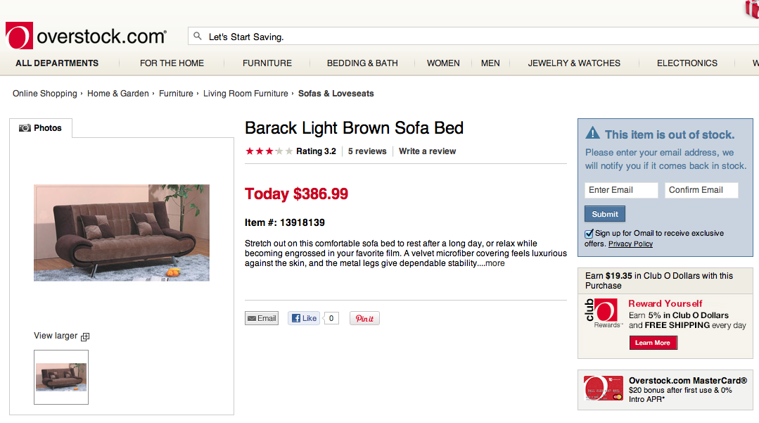 'Barack Light Brown Sofa'   Great, so now fucking furniture is doing blackface?