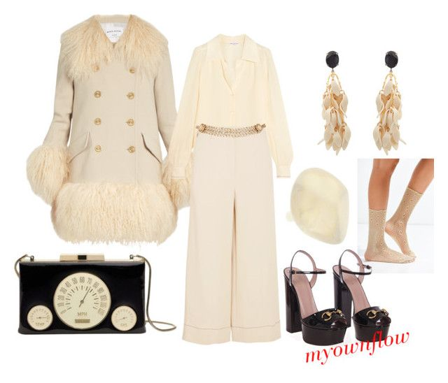 """""""CREAM OF THE CROP"""" by myownflow on Polyvore featuring Sonia Rykiel, Out From Under, Maison Mayle, Gucci, Kate Spade, Dinosaur Designs and Marni"""