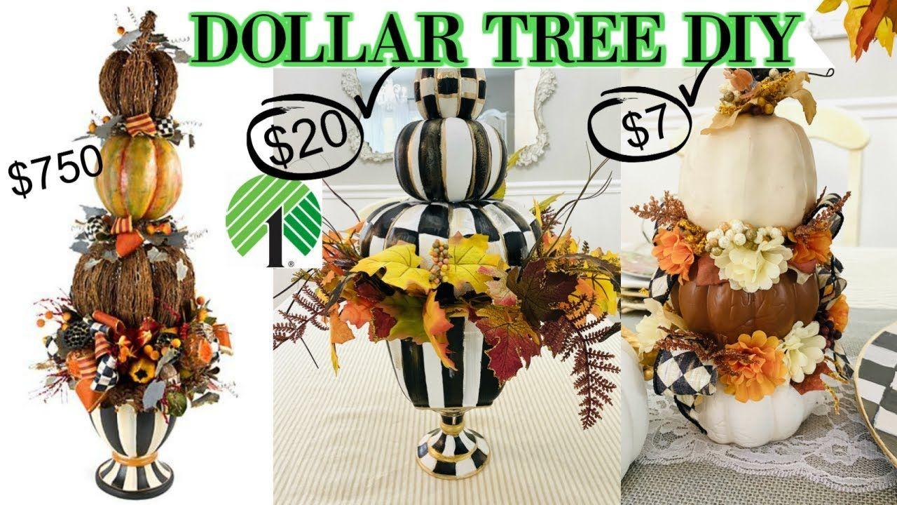 "6 DOLLAR TREE DIY DESIGNER FALL DECOR CRAFTS 2020 🍁 ""I"
