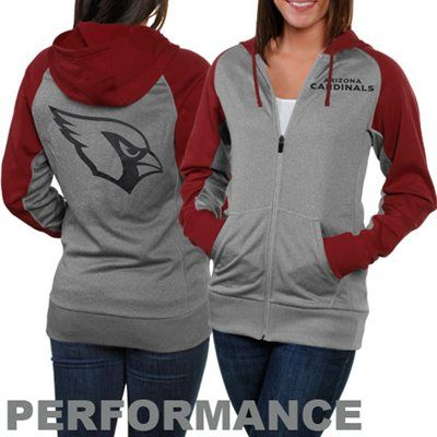 promo code a412a 6a587 Nike Arizona Cardinals Ladies Die-Hard Full Zip Performance ...