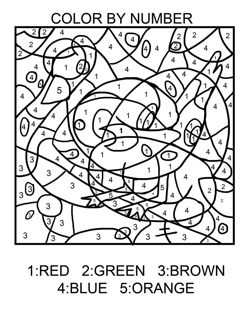 Pokemon Coloring Pages Numbers Background