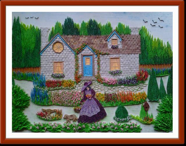 Anastasia Annie Wahalatantiri Quilled Cottage Garden In