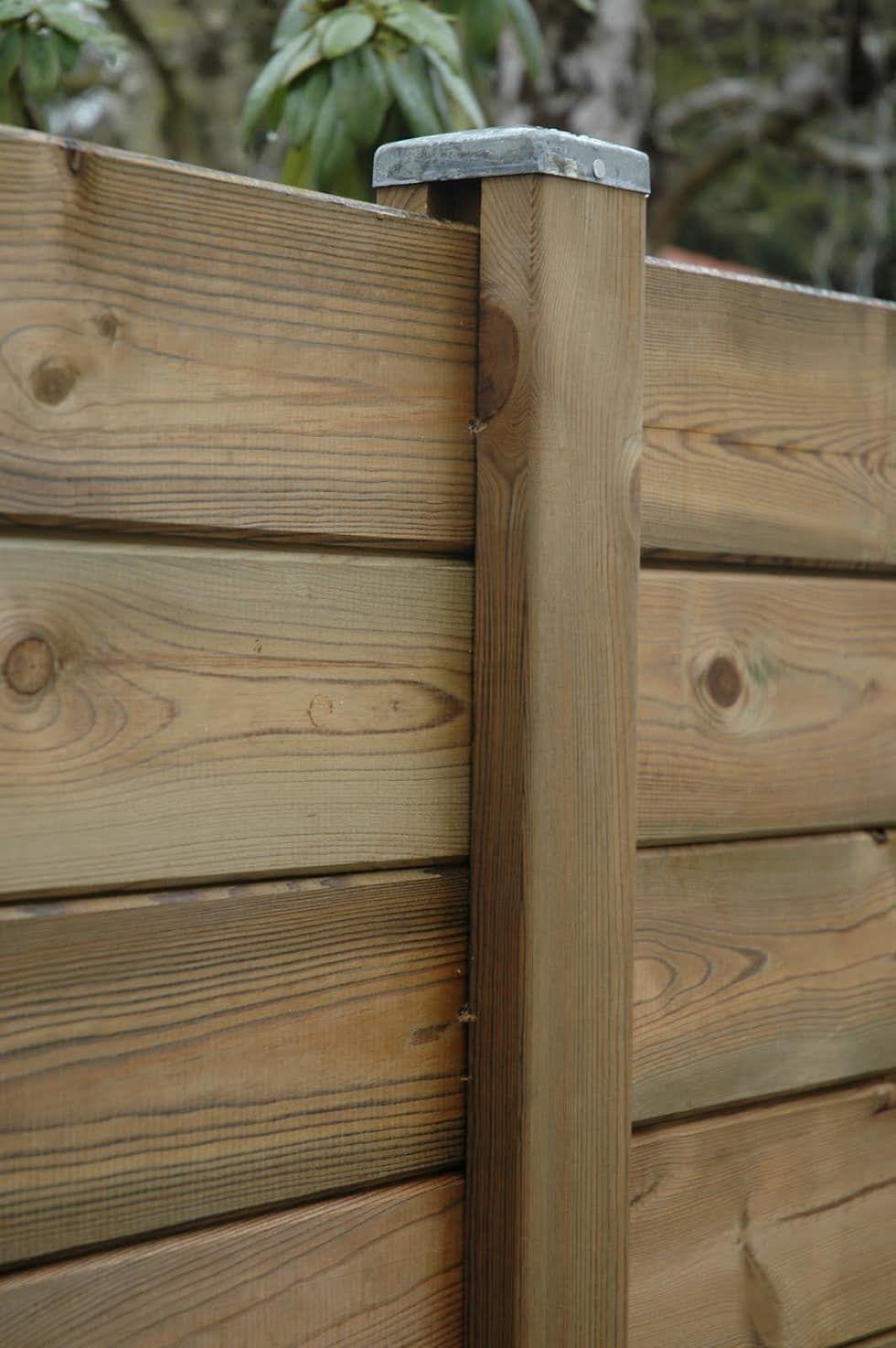 Palissade bois parana deck lin a jardin de style par - Palissade bois jardin ...