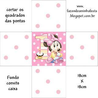 Minnie Baby - Kit Completo com molduras para convites, rótulos para guloseimas, lembrancinhas e imagens!