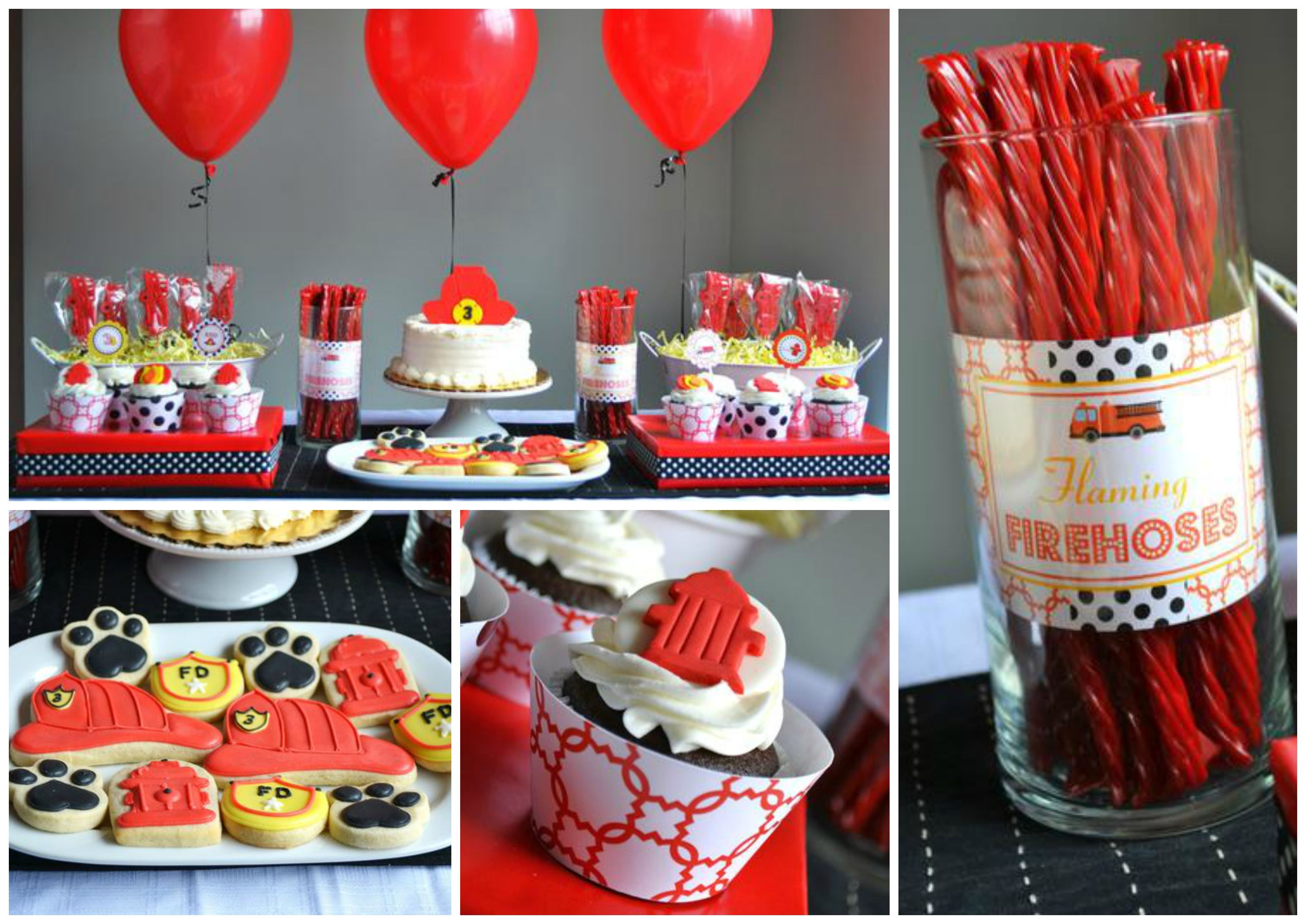 My little fireman is turning three birthday party 3 Party ideas