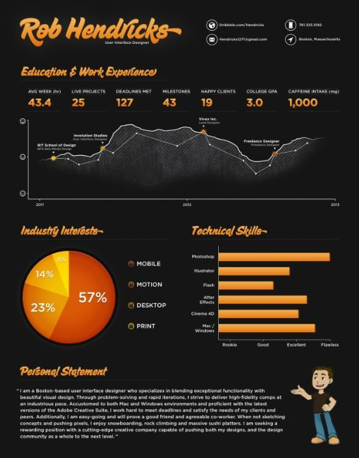 Infographic Resume Template  Creative Resume Templates