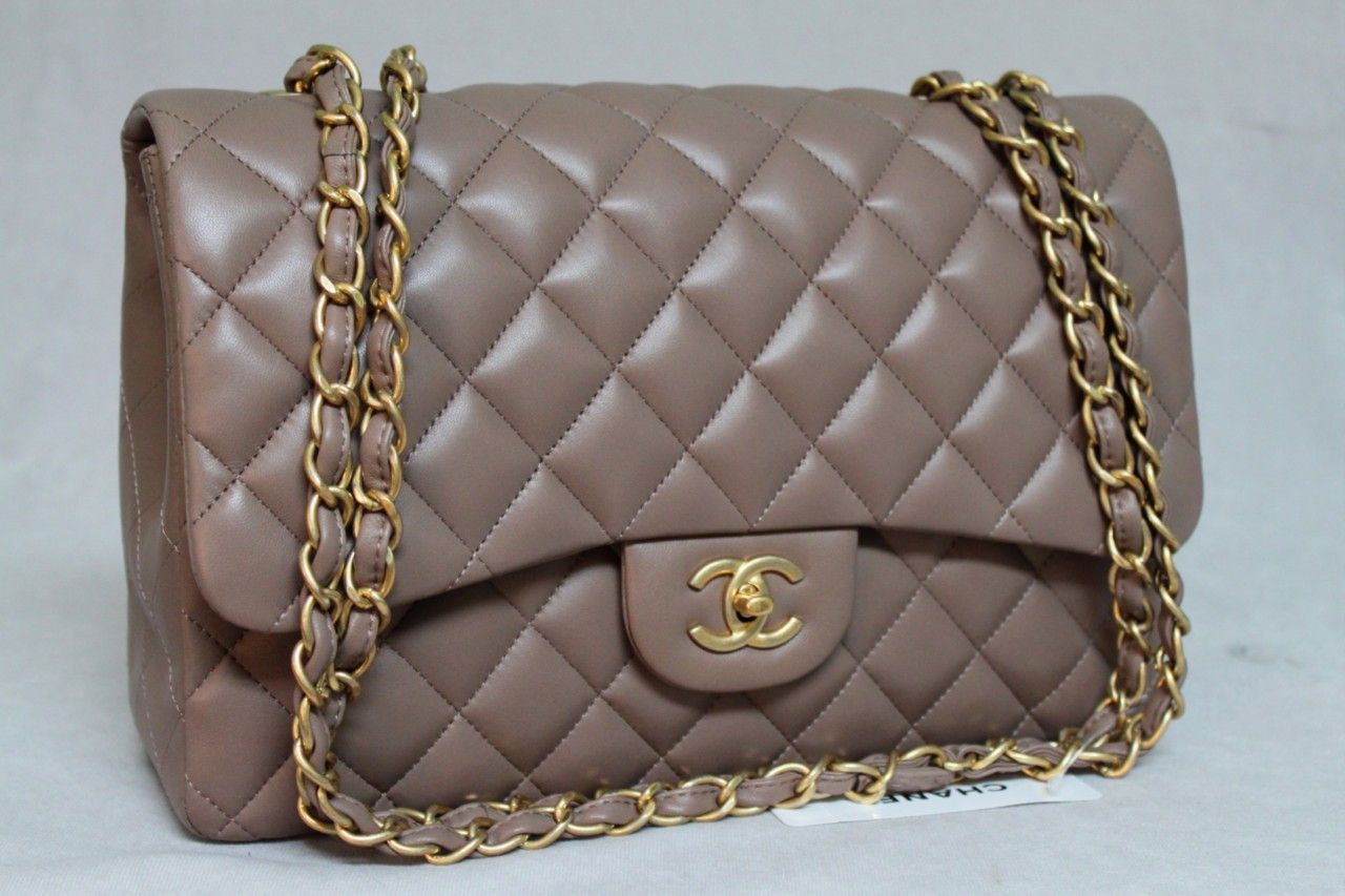 b50546a97036b1 CHANEL Classic Flap Taupe | chanel | Chanel classic flap, Chanel, Bags